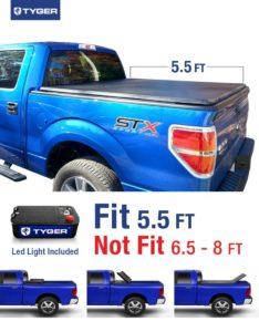 Tyger Auto Tri-Fold Tonneau Cover Ford F150