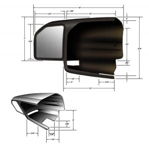 CIPA Black USA 11550 Tow Mirror 15-19 Ford F150